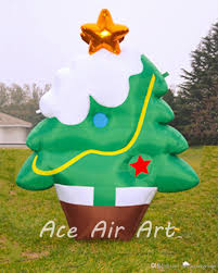 2017 wholesale beautiful outdoor inflatable christmas tree