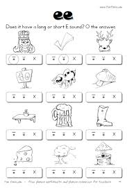 long vowel worksheets for kindergarten worksheets