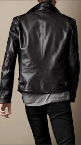 leather biker jackets for sale burberry brit leather biker jacket in black for men lyst