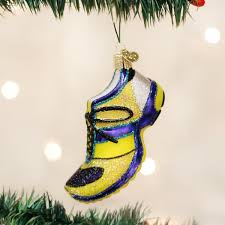 amazon com old world christmas running shoe glass blown ornament