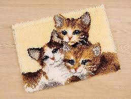 Vervaco Latch Hook Rug Kits Vervaco Latch Hook Rug Kit Kittens Pn 0145610 54 50