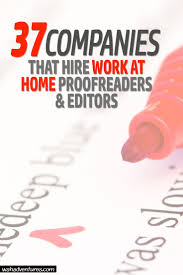37 work from home proofreading and editing jobs online