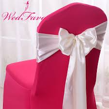 wedding chair bows online shop wedfavor 100pcs banquet satin chair sash wedding