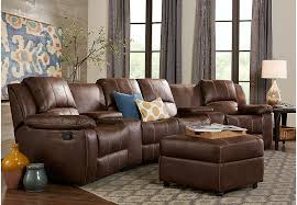 Living Room Furniture Sets With Chaise Saybrook Brown 6 Pc Sectional Living Room Living Room Sets Brown