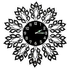 decorative wall clock decorative black leaf metal wall clock surripui net