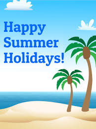 happy summer holidays card birthday greeting cards by davia