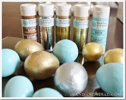 speckled u0026 gilded easter eggs sand and sisal
