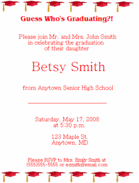 what to write on a graduation announcement high school graduation party invitation wording dhavalthakur