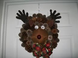 woodsy reindeer wreath sweetwildflower