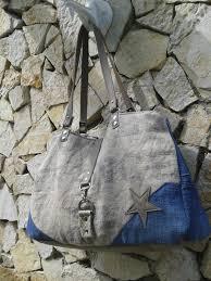 sac cabas en lin sac cabas en jeans lin tissu d ameublement et cuir denim bag
