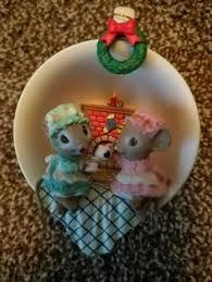 enesco rock a bye baby treasury of christmas ornament mousery