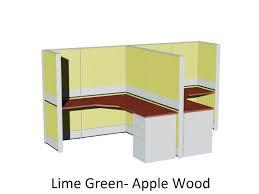 Media Storage Pedestal Sapphire Modular 5 U0027x7 U0027 Cubicle With Glass Panels And Storage