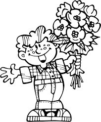 bouquet of flowers coloring pages for childrens printable for free