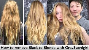 cut before dye hair how to remove black to blonde with grav3yardgirl youtube