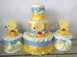 SET OF 3 Rubber Duck Diaper Cakes Rubber Duck Baby Shower