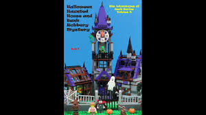 lego halloween haunted house and bank robbery mystery story book