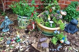 Outdoor Fairy Garden Ideas by Fairy Garden My Heart Lives Here