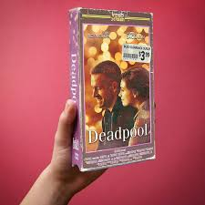 deadpool physically recreating vintage vhs covers as well as