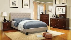 amazon com furniture of america roy fabric platform bed with