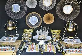 Black And Gold New Years Eve Decorations by New Years Eve Party Ideas Pinterest Images