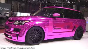 purple range rover chrome pink hamann range rover mystere youtube