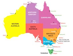 austrial map map with countries and capitals lovely australia justeastofwest me