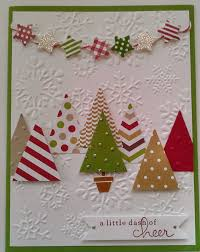 handmade christmas cards could use the tree punch to make this card fast stin up