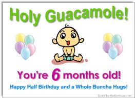 send a half birthday ecard half year old ecard