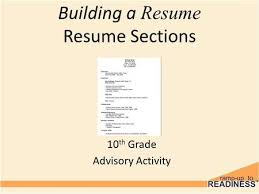 Activity Resume Creating A Resume 10 Th Grade Resumes Eduers Ppt Download