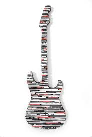 20 Classic Black And White Guitar Wall Art Made From Recycled Magazines Rocker Electric
