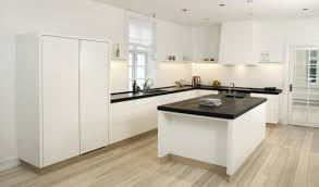 white kitchen floor ideas kitchen idea of the day modern white kitchen with wood floors