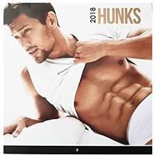 men calendar 2018 hunks square wall calendar men women models