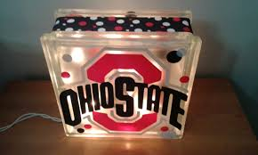 ohio state ribbon personalized lighted glass block with ribbon auburn ohio state