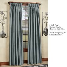 marquee flared faux silk pinch pleat curtain panels
