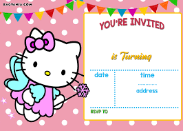 Hello Kitty Invitation Cards Awesome Free Printable Hello Kitty Invitation Templates Theme