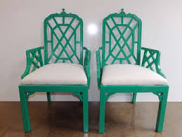 Chippendale Chair by Chippendale Chairs In Green With Silk Cushions At
