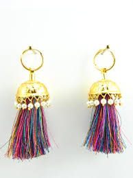 punjabi jhumka earrings punjabi jhumka kundan earrings lotan silver metal earrings