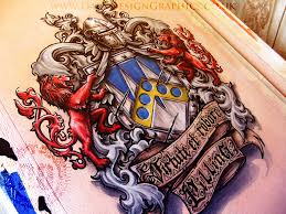colour coat of arms custom tattoo design from dark design graphics