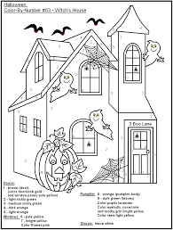 16 images halloween color number coloring pages halloween