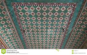 ornate ceiling ornaments in jaipur hindu temple india stock