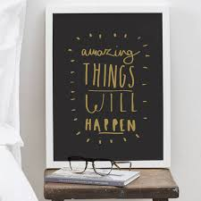 Empty Chair Poem Amazing Things Will Happen Print By Old English Company