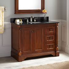 Wicker Bathroom Furniture Double Sink Walnut Vanity Signature Hardware