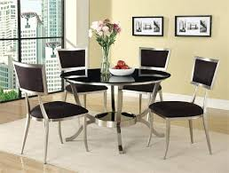 acme furniture abbott metal dining set in black table and 4 chairs