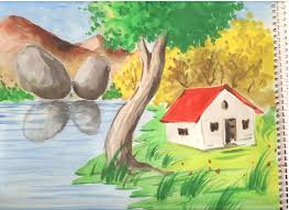 beautiful nature colours sketches great drawing