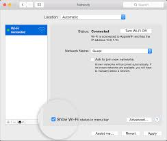 manage the wi fi connection on your mac apple support
