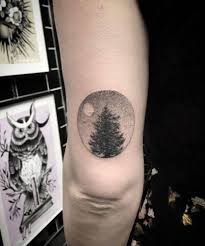 photos of mystical pine tree tattoos