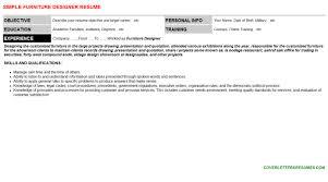furniture designer cover letter u0026 resume