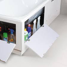 cooke u0026 lewis universal white bath storage front panel w 1700mm