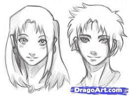 learn how to draw manga heads anime heads anime draw japanese