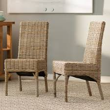 rattan kitchen furniture parsons wicker rattan kitchen dining chairs you ll wayfair